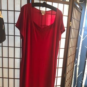 Red dress, size 2x by fashion Bug